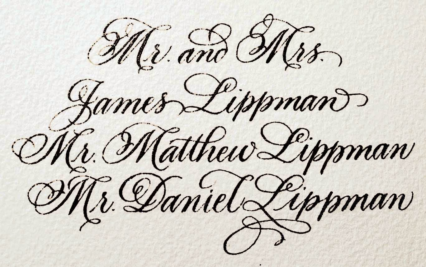 Image Gallery Calligraphy Samples