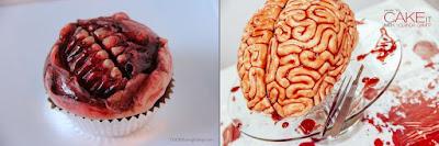 Zombie Cupcake + Brain Cake