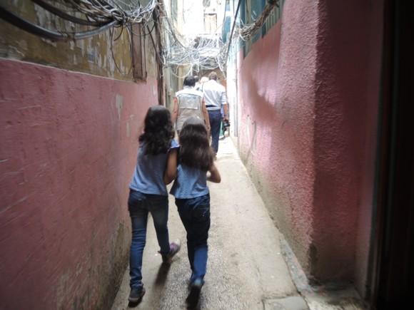 katiecrackernuts.blogspot.com || with Tara Moss and UNICEF walking through a refugee settlement in Beirut Lebanon