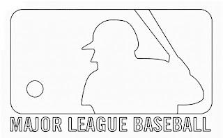 Logo de las ligas mayores de Beisbol de Estados Unidos para colorear