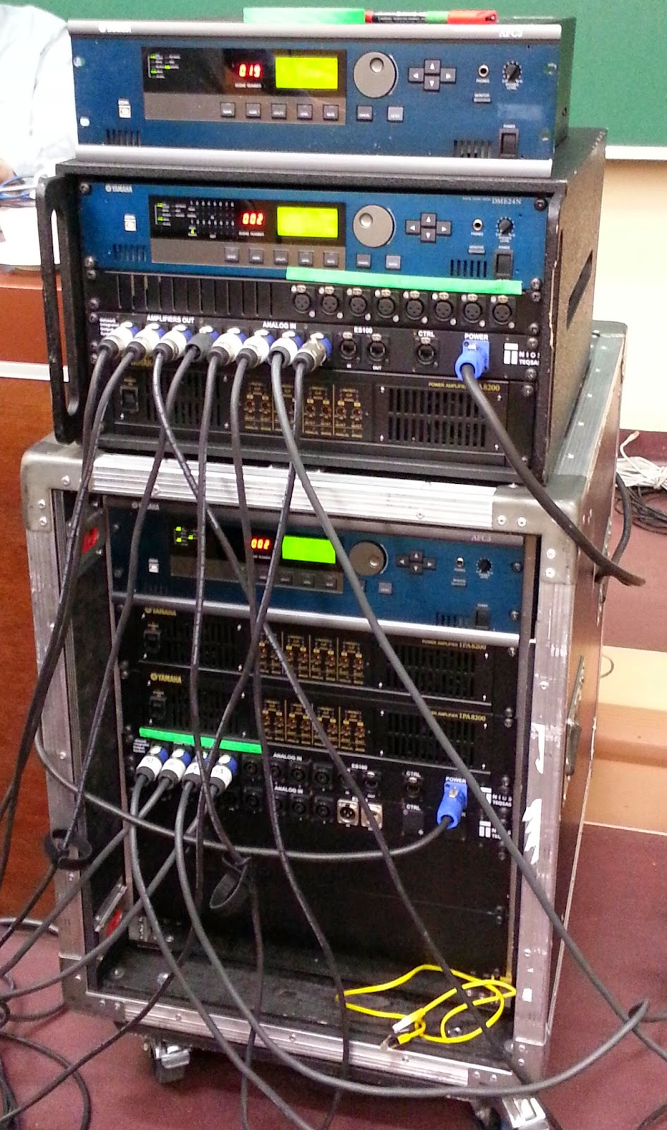 Procesory i wzmacniacze systemu sztucznego pogłosu