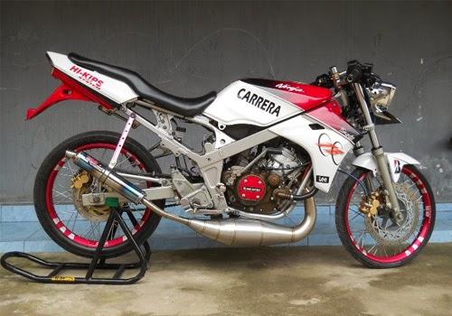 10 Modifikasi Motor Kawasaki Ninja L Velg Jari-Jari title=