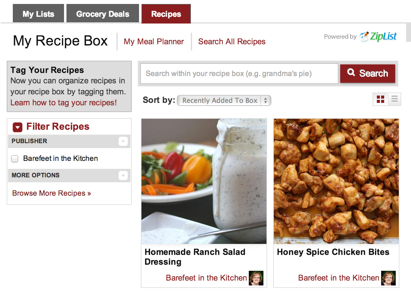 How To Save Recipes On Barefeet In The Kitchen Using Ziplist