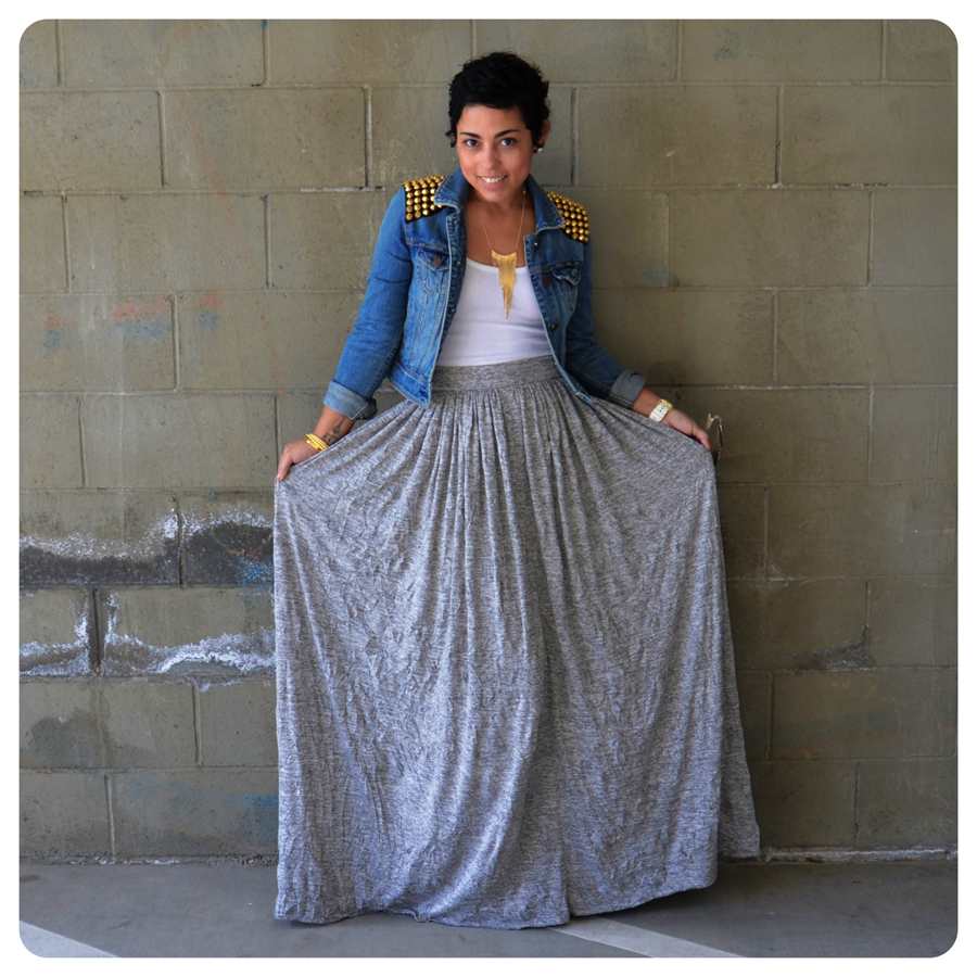 Jean maxi skirt pattern – Fashionable skirts 2017 photo blog