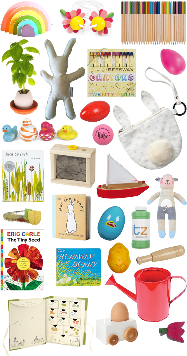 A lovely lark 25 sweet but sugar free easter gifts for kids i have nothing against a little candy on holidays but i like to fill violets easter basket with other things too here are over 25 of my favorite negle Choice Image