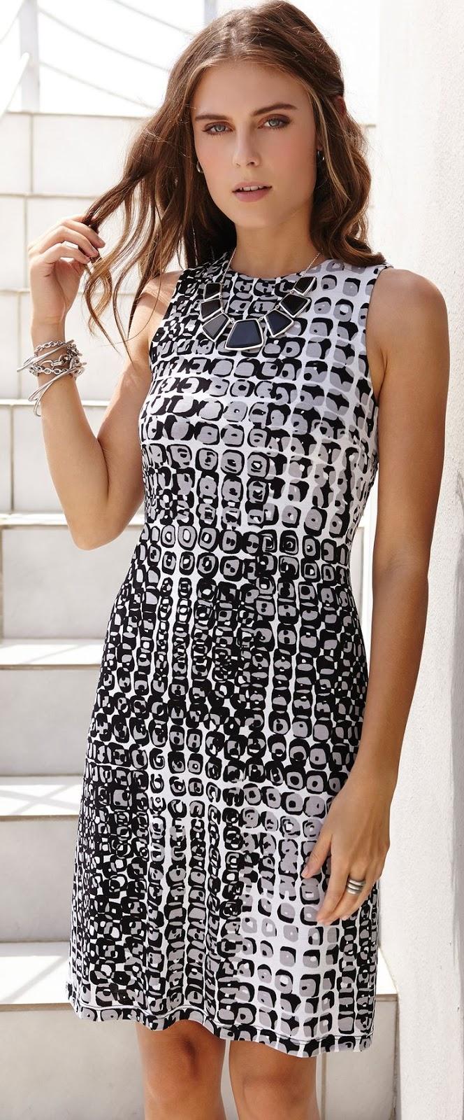 Women 39 S Fashion Chic Patterned Dress