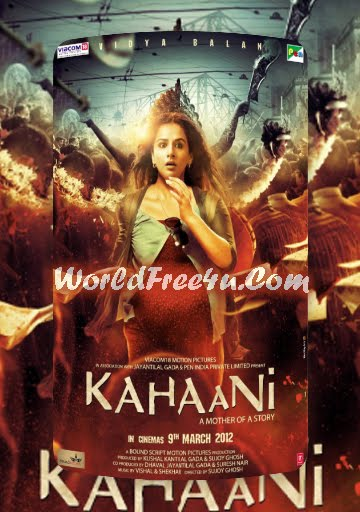 Poster Of Kahaani (2012) Full Hindi Movie Free Download Watch Online At worldfree4u.com
