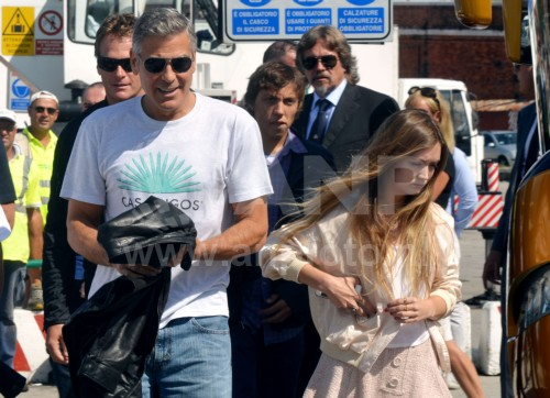 George Clooney arrives in Venice 24414887
