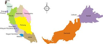 Peta, Peta Malysia, Malaysia, Peta di Malaysia, Bentuk Muka Bumi Malaysia