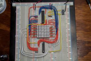 matriz de LEDs AVR