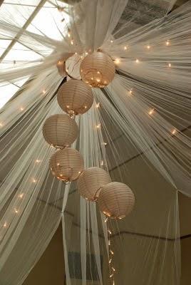 using tulle in many wedding decoration ideas wedding stuff ideas. Black Bedroom Furniture Sets. Home Design Ideas