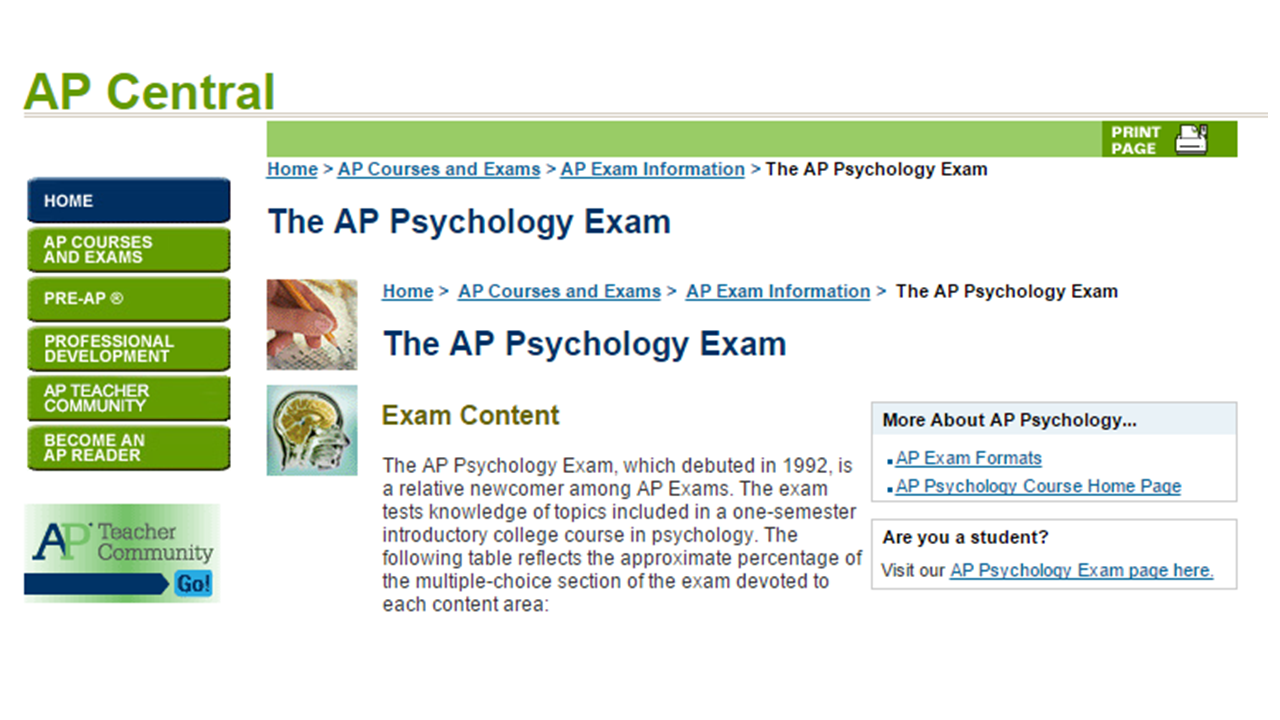 Teaching High School Psychology: AP Psychology Free Response ...