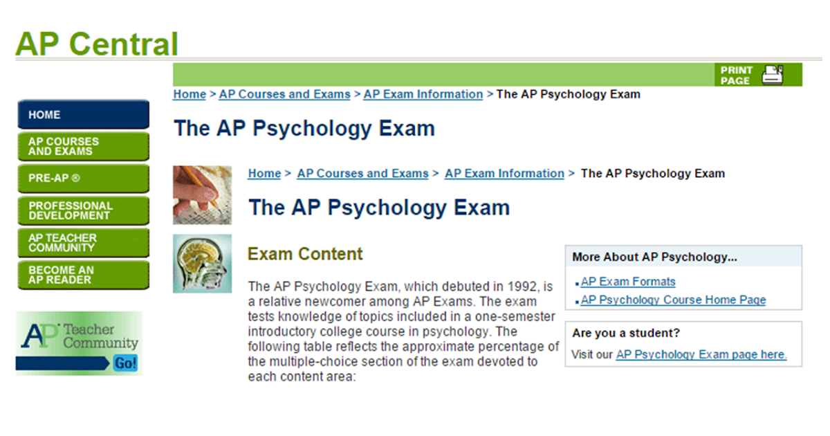 ap psychology essay questions answers 100% free ap test prep website that offers study material to high school students seeking to prepare for ap exams enterprising students use this website to learn ap.