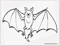 bat coloring pages realistic