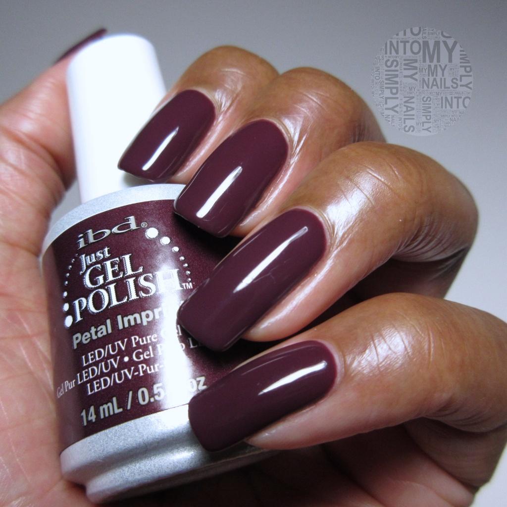 Mini Manicures ~ IBD Just Gel Petal Imprint   Simply Into My NAILS