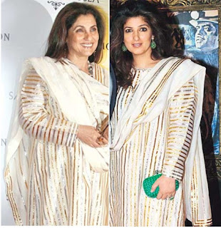 Dimple Kapadia with her daughter Twinkle Khanna