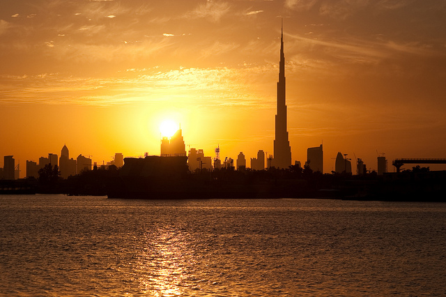 Sunset in Dubai, UAE