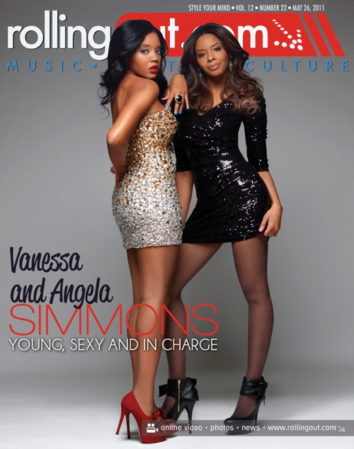 Angela Simmons And Her Sister Vanessa Cover The May 2011 Issue Of