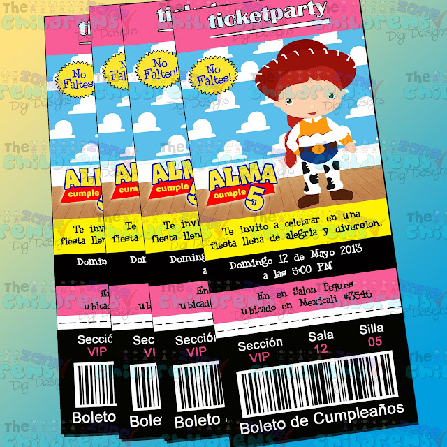 The Childrens Zone Digi Designs: Invitaciones de Toy Story