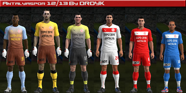 PES 2013 Antalyaspor 2012/13 Kits By DRDYK