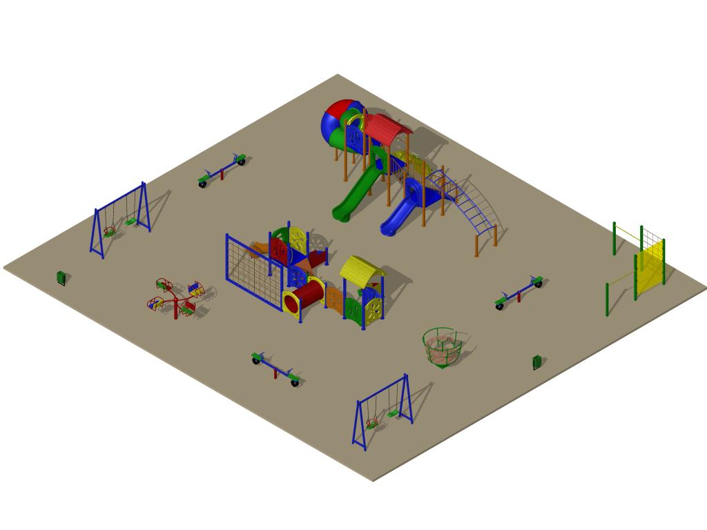 Детская площадка на Лорха, 7, вариант 4 (проект)