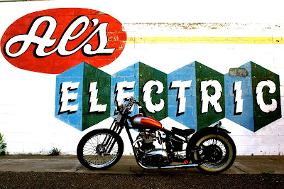 Al's Electric Triumph TR6 chopper