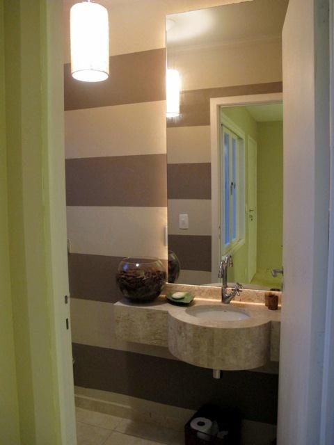 Banheiro pequeno, bem organizado e bonito  Casa e Reforma -> Banheiro Pequeno E Organizado