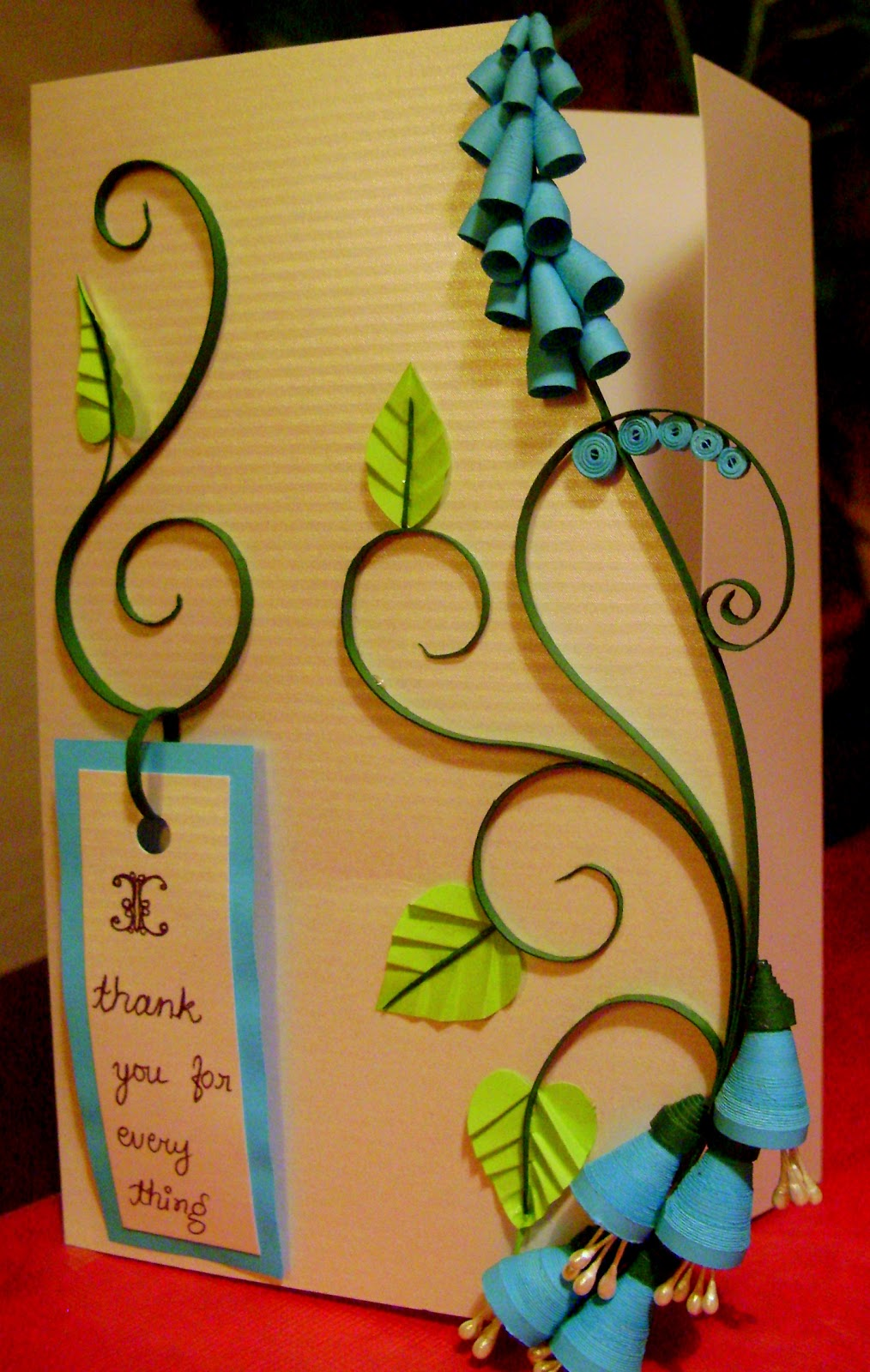 Quilling Me Softly: 3D quilling - blue bell flowers