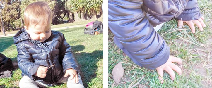 claudia-jugando-con-la-hierba-del-parque-hansel-y-greta