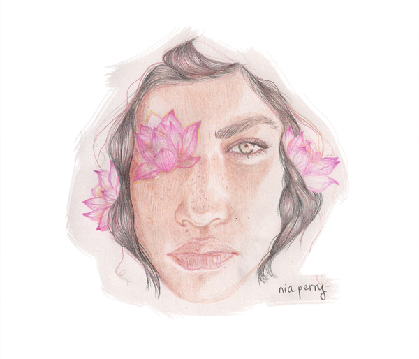 Lotus Sketch By Nia Perry