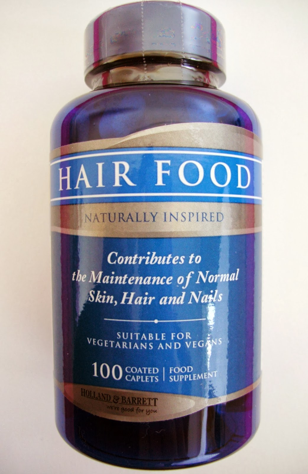 Holland & Barrett Good Life MOT Hair Food Naturally Inspired Food Supplement 100 Coated Caplets