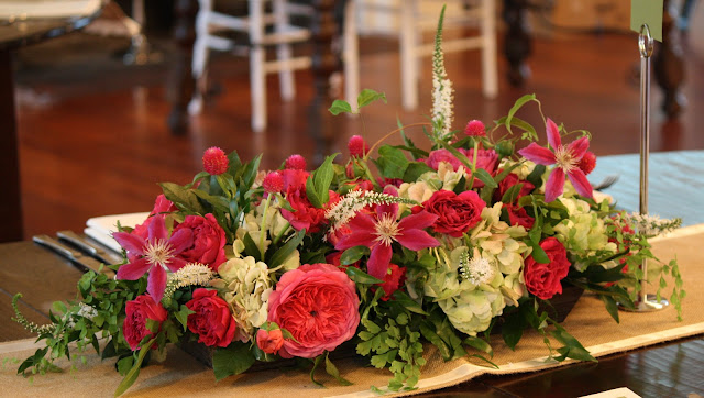 Highlands Country Club Card Table Centerpiece - Splendid Stems Event Florals