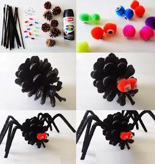 Araña para Halloween, Paso a Paso