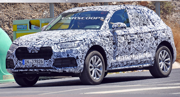 New Audi Spied Wearing An Evolutionary Looking Production Body