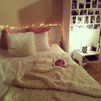 Lampki choinkowe jako dekoracja nie tylko na wi ta for Cosy teenage bedroom ideas