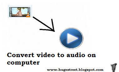 How To Convert Video To Audio on PC : 2 Steps
