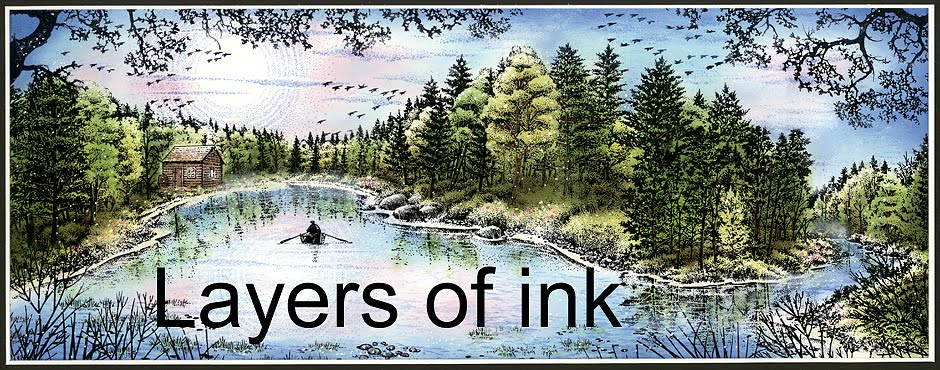 Layers of ink