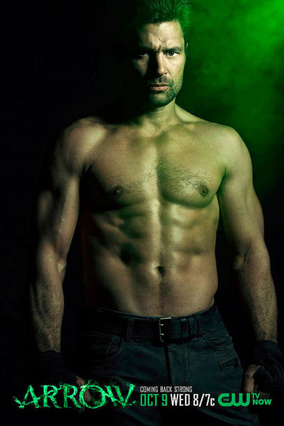 Manu Bennett Slade Wilson Arrow shirtless guys hot sexy comic book villain Green Arrow Teen Titans photos pictures images
