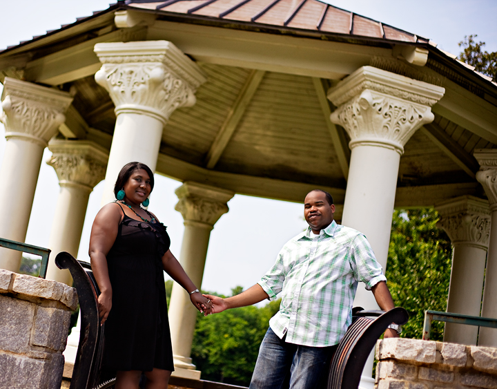 Atlanta Engagement Photo Carlton + Tashia