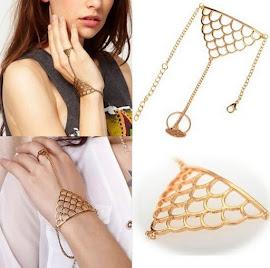 Gold Cuff Slave Bracelet, RM29