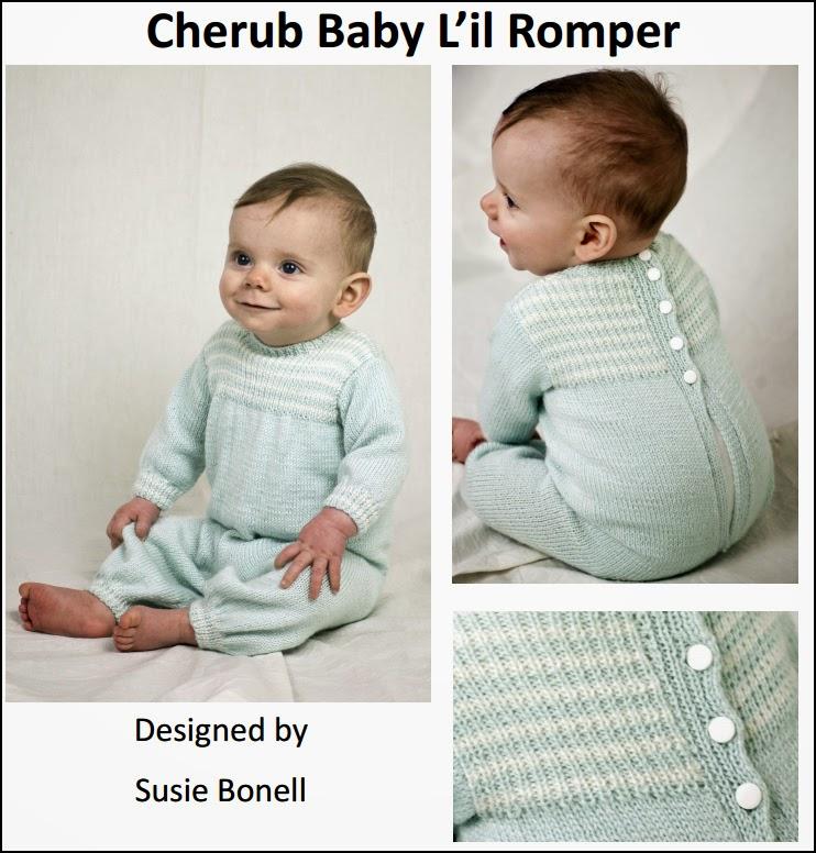 Cherub Baby L'il Romper FREE Pattern by Cascade Yarns