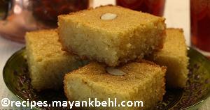 authentic egyptians-dessert-basbousa recipe