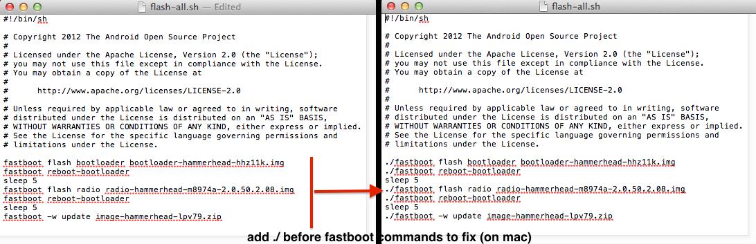 flash-all.sh script fixed