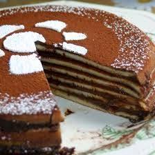 Gâteau de crêpes au chocolat