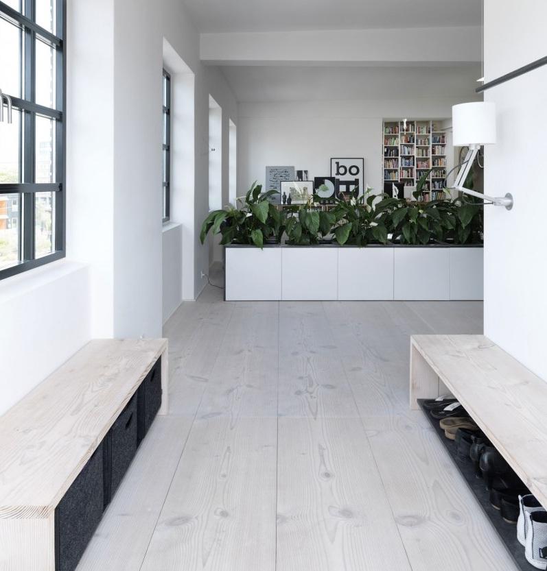 Interni Scandinavi [open space con giardino_bianco e nero che ispira]