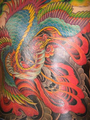 Angry phoenix tattoo designs