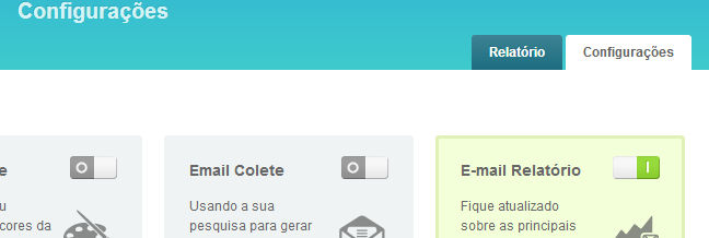 Configurando sua conta no UserReport