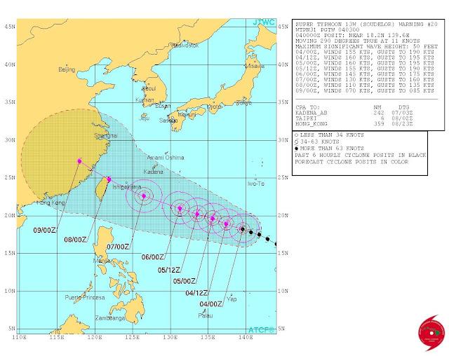 Typhoon Hanna track JTWC