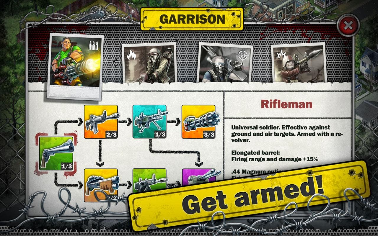 Download Game Zombies - Line of Defense Apk Modded Money