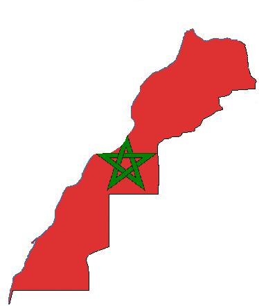 morocco flag 071611 vector clip